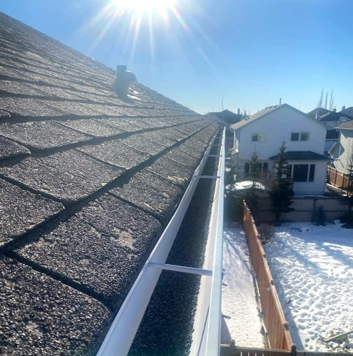 Roof in calgary showing weathering and ageing