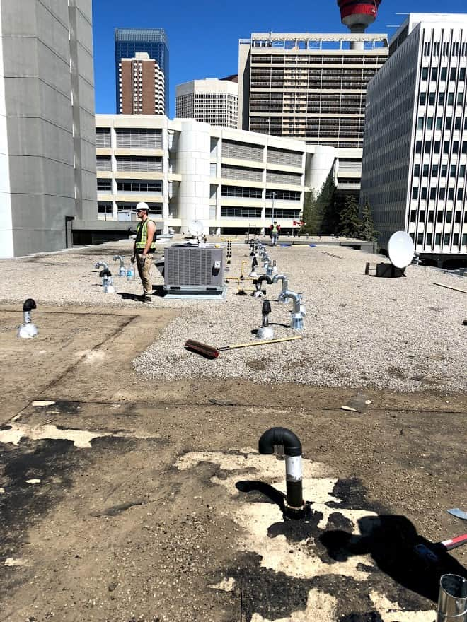 W4SR on a flat roof in downtown Calgary