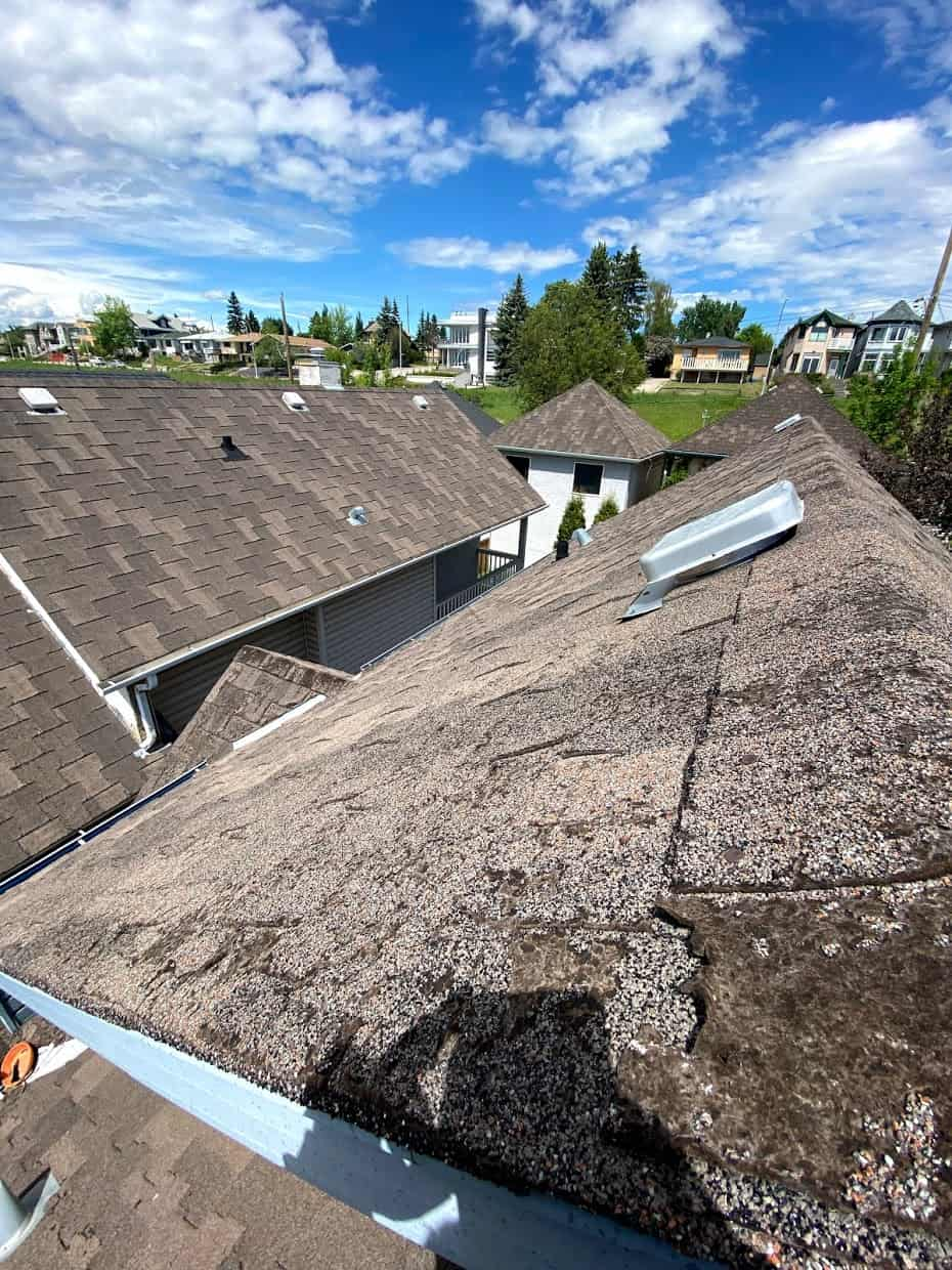 A roof that needs to be replaced in Calgary Alberta